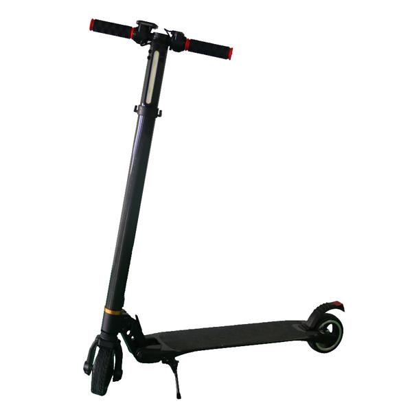 Black carbon fiber smart electric scooter