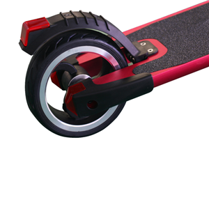 Red aluminum alloy smart electric scooter