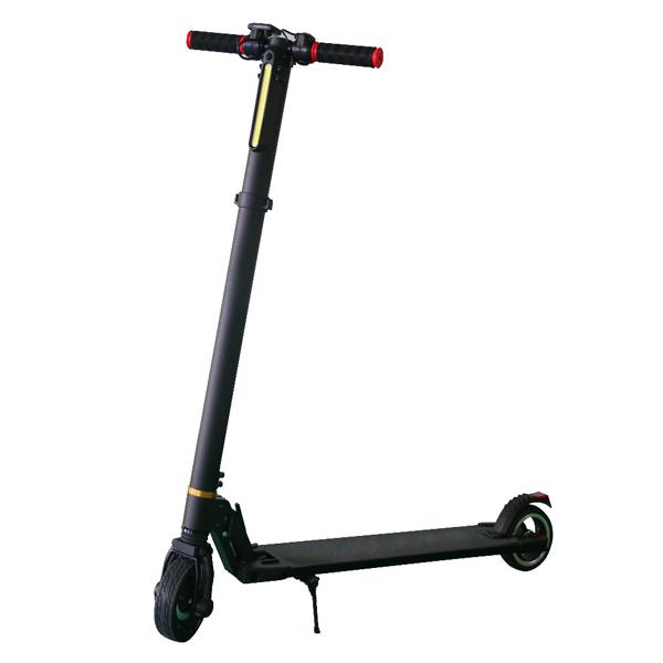 Black aluminum alloy smart electric scooter