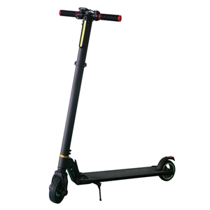 Black aluminum alloy smart electric scooter