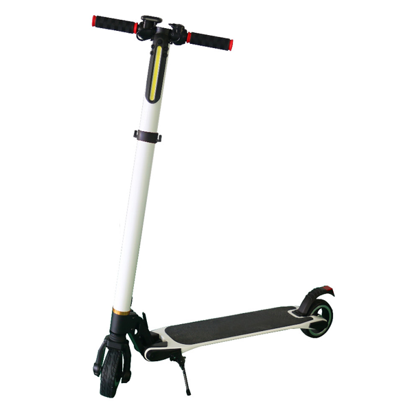 White aluminum alloy smart electric scooter