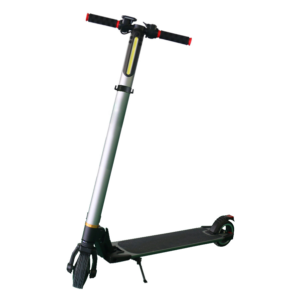 Silver aluminum alloy smart electric scooter