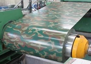 迷彩图案预涂线圈钢板Z30 Z275 SGCC CGCC