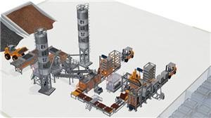 Fully Automatic Block Production Line With Curing Rack