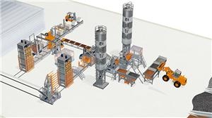 Fully-automatic Cement Block Moulding Machine