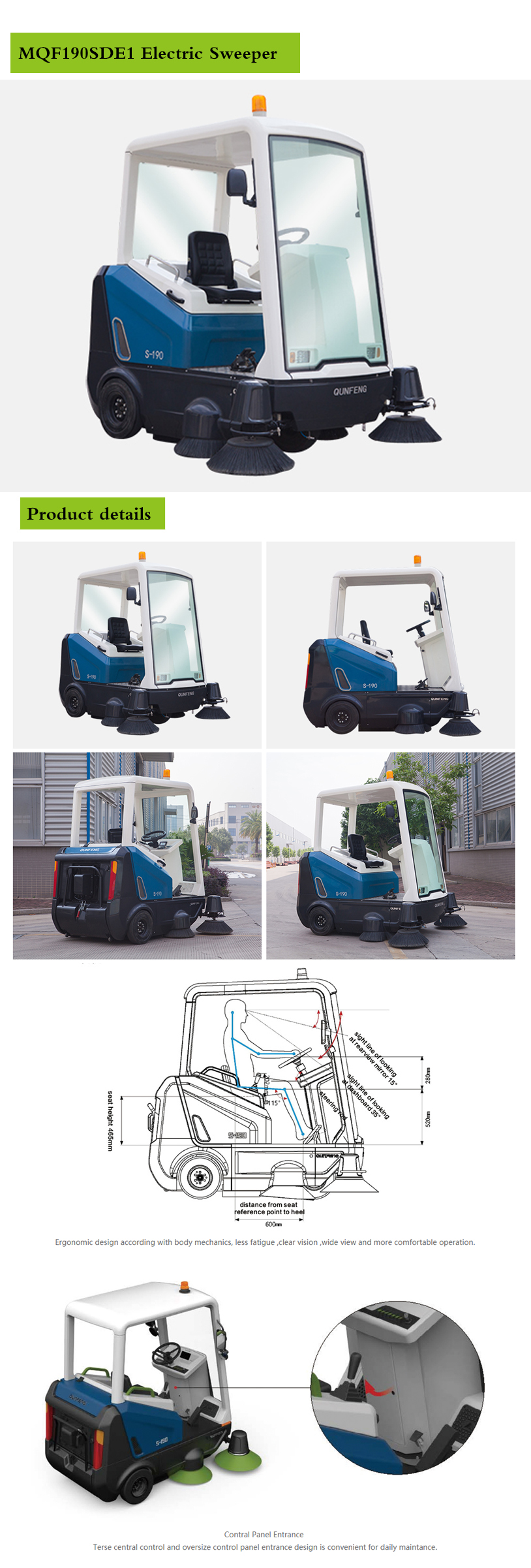 Electric environmental protection sweeper