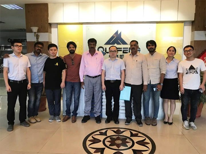 """Good news!Qunfeng """"Supersonic""""intelligent block machine settled in India's RKB brick factory. Efficiently assisted the birth of"""