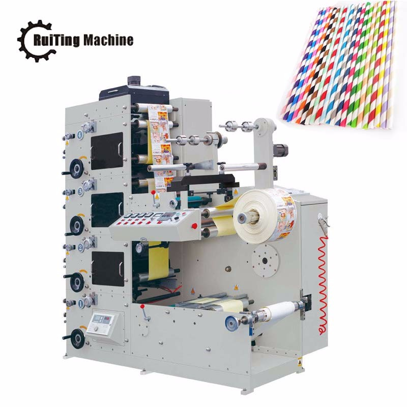 Environmentally colorful drinking paper straw printing machine