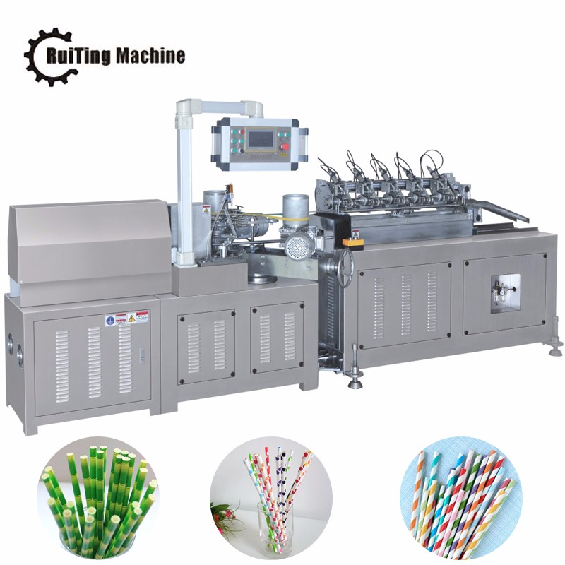 RTSD-50 high speed muti cutter colorful paper drinking straw making machine