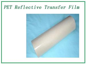 Transparent reflective transfer film