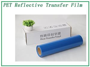 Blue Elasticity Rerflective Lettering Tansfer Film