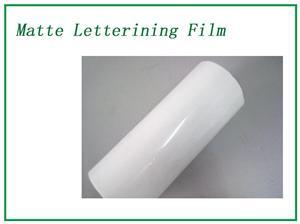 White Matte Lettering Film