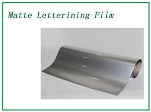 Silver Matte Lettering Film