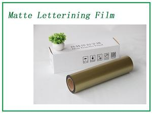 Golden Matte Lettering Film