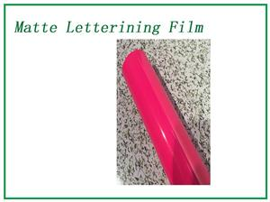 Fluorescent plum Matte Lettering Film