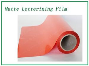 Fluorescent orange Matte Lettering Film