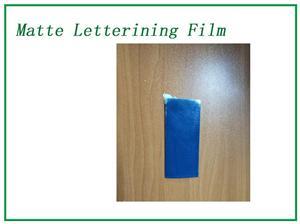 Fluorescent blue Matte Lettering Film