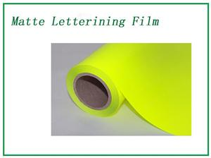 Fluorescent yellow Matte Lettering Film