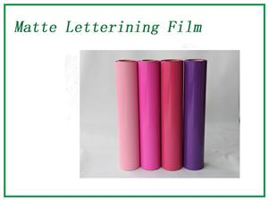 Purple Matte Lettering Film