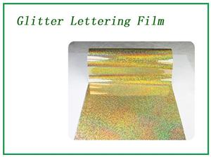 Glitter golden lettering film