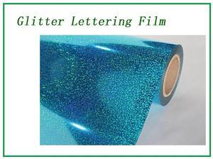 Glitter blue lettering film