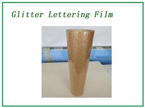 Glitter brown lettering film