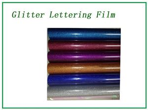 Glitter purple lettering film