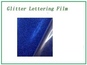 Glitter Laser dark blue lettering film