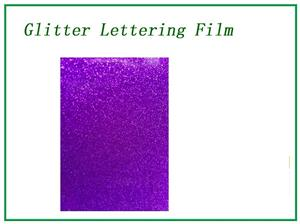 Glitter Laser dark purple lettering film