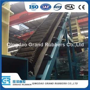 Black Standard High Abrision Resistant Sidewall Conveyor Belt