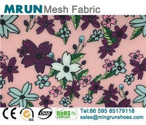 Flower Printing Air Stretch Mesh Fabric