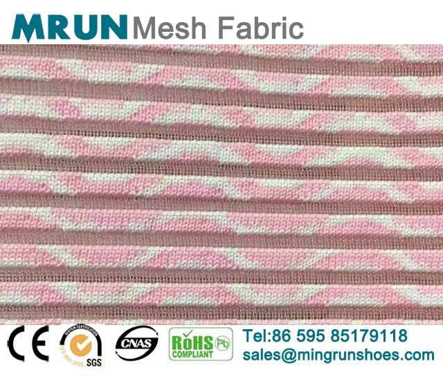 Wave Texture Flyknit Mesh Fabric