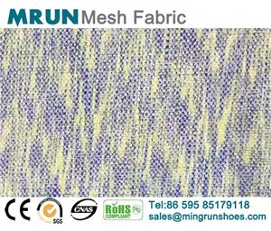 Multi Color Flyknit Mesh Fabric