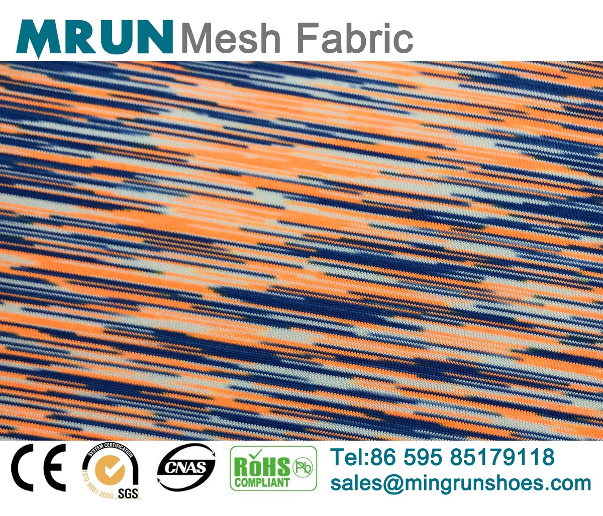Mixed Color Breathable Air Mesh Fabric for shoes