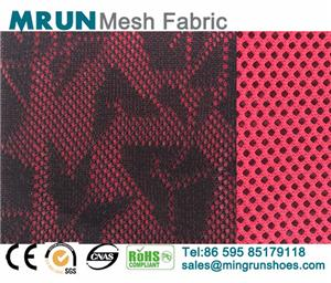 New double-faced Geometrical knit shoe mesh fabric