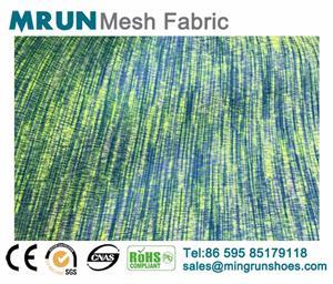 Metalic printing air mesh fabric new shoe mesh fabric