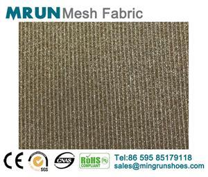 New metalic glitter elastic mesh fabric sneakers farbic