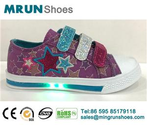 Kids Injection Canvas Led Shoes
