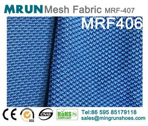 Double colors Elastic knit mesh fabric