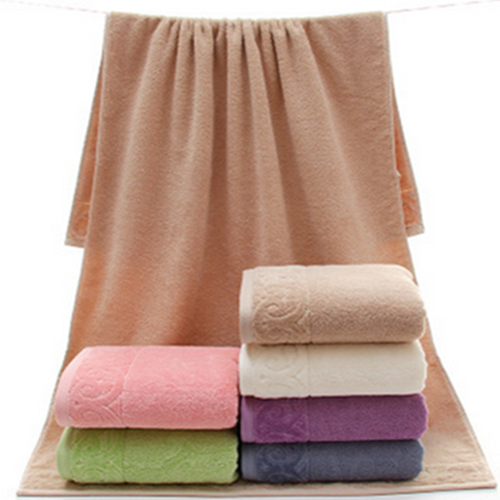 100% Long Staple cotton luxury jacquard printed terry bath towels