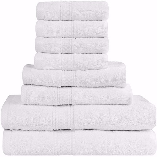 6 piece bathroom 100% cotton hotel bath towel set