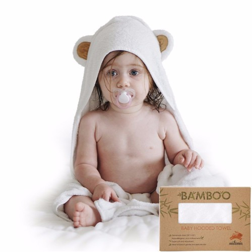 organic bamboo baby hooded towels