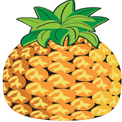 irregular pineapple shaped beach towel