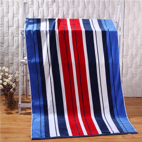colorful stripe printed beach towel