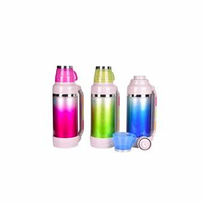 2.0L glass liner barrel body color steel thermos