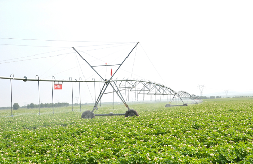 Application of center pivot irrigation system