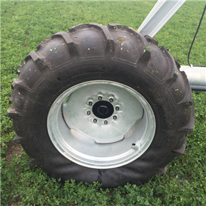 irrigation wheel tire for center pivot irrigation machine