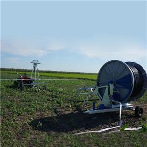 Water Sprinkler Hose Reel Irrigation Machine With Boom
