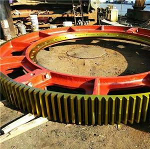 Big casting steel girth gear for ball mill or kiln
