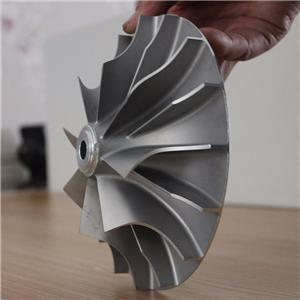 aluminium casting and CNC machining turbocharger compressor wheel